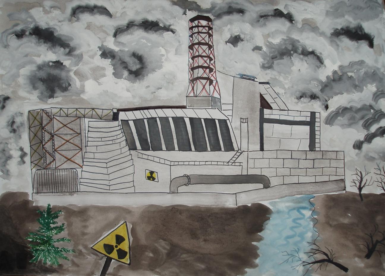совсем картинки чернобыльской аэс рисовать долго