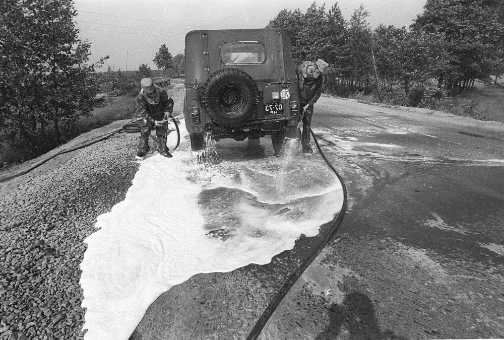Поливальные машины чернобыль фото