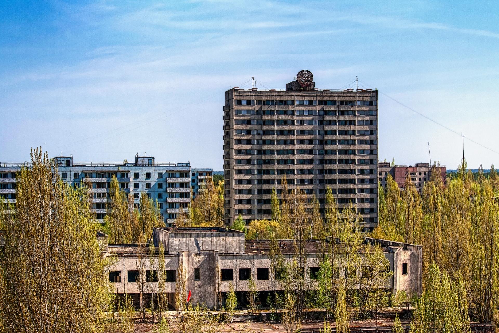 проведение фотографии города чернобыль покрышке